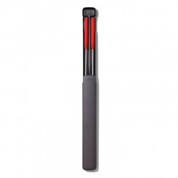 携帯用ステンレス ストローセット(クリーニングブラシ付)レッド