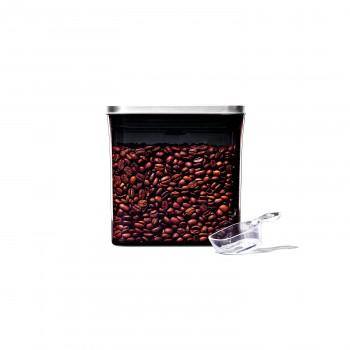 コーヒー&ティーポップコンテナ レクタングル(ショート)コーヒースクープ付